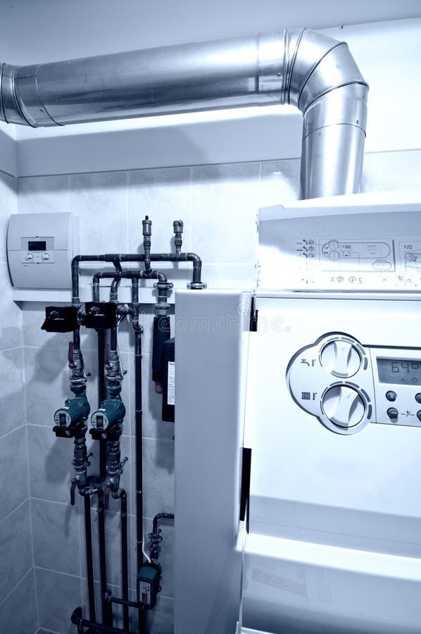 Unidad central del horno de gas fotos de archivo