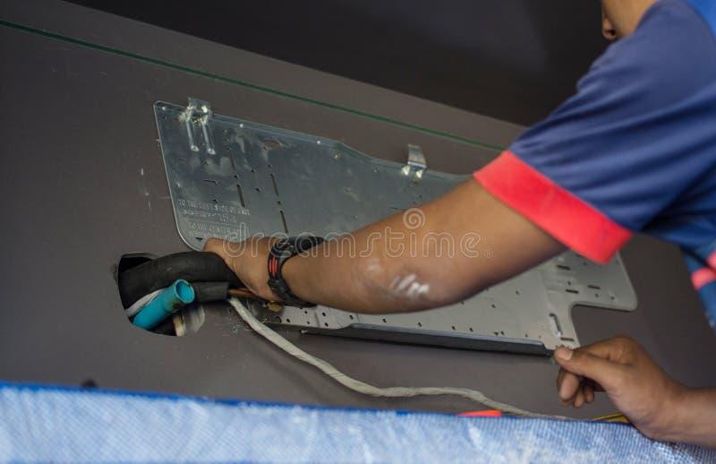 Unidad de acondicionamiento de aire de montaje manual imagen de archivo