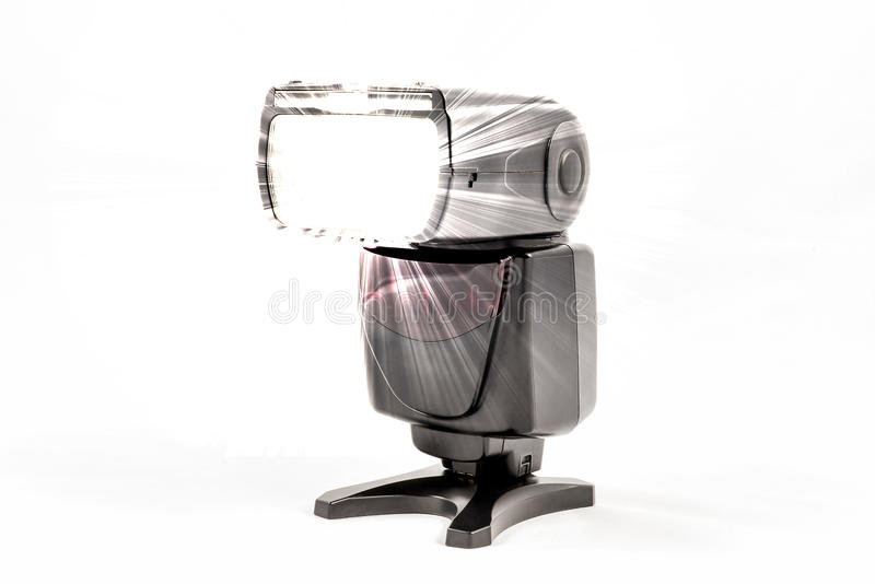Unidad de destello externa sin marca para la cámara de DSLR fotografía de archivo