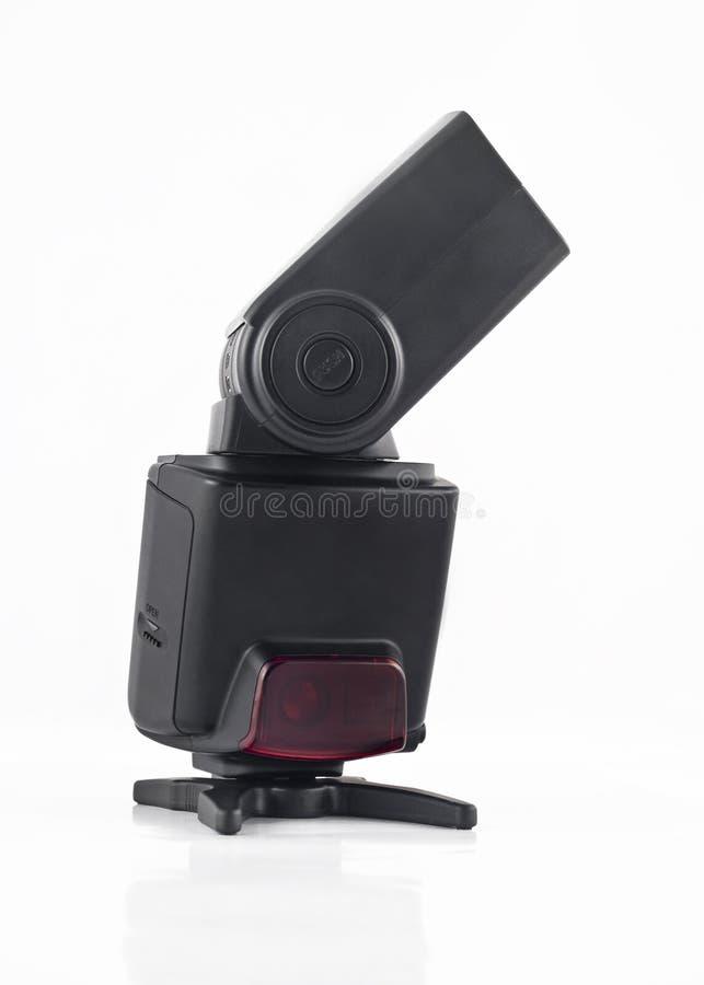Unidad de destello para las cámaras digitales aisladas imagen de archivo