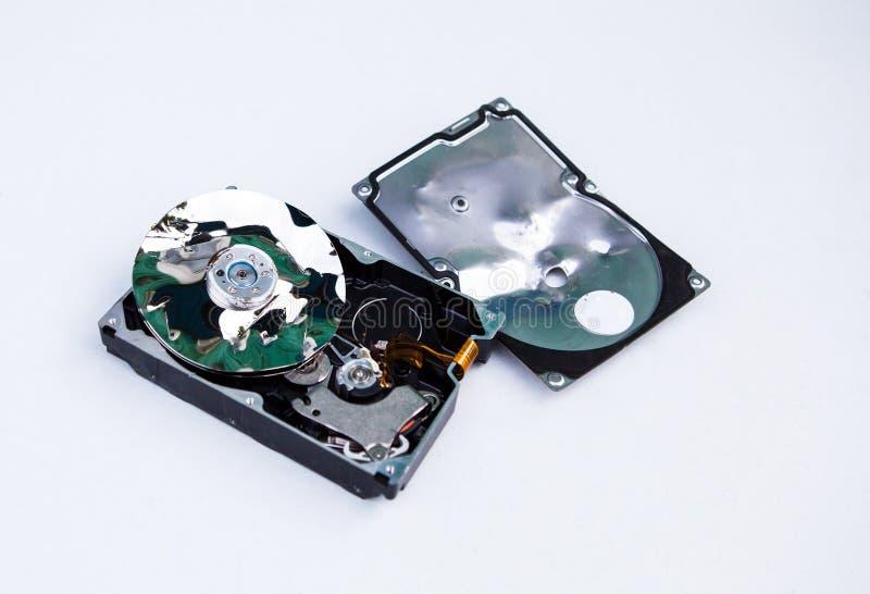 Unidad de disco duro machacada imagen de archivo