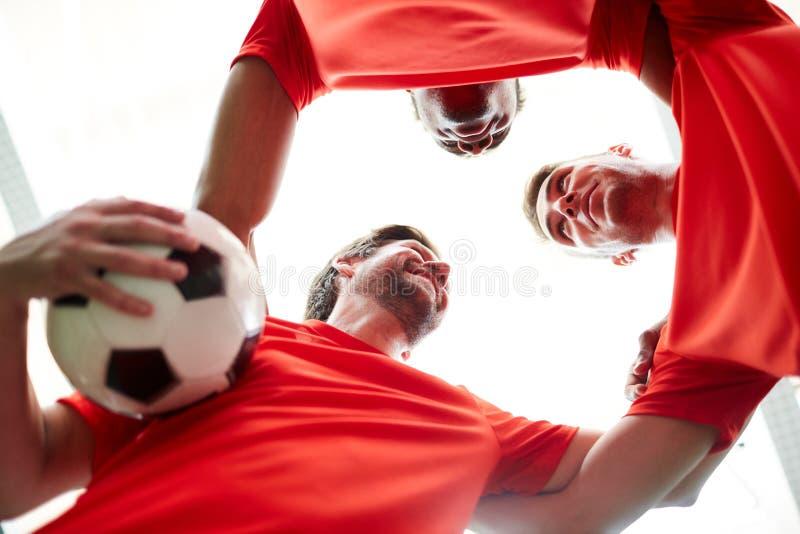 Unidad de jugadores de fútbol fotografía de archivo libre de regalías