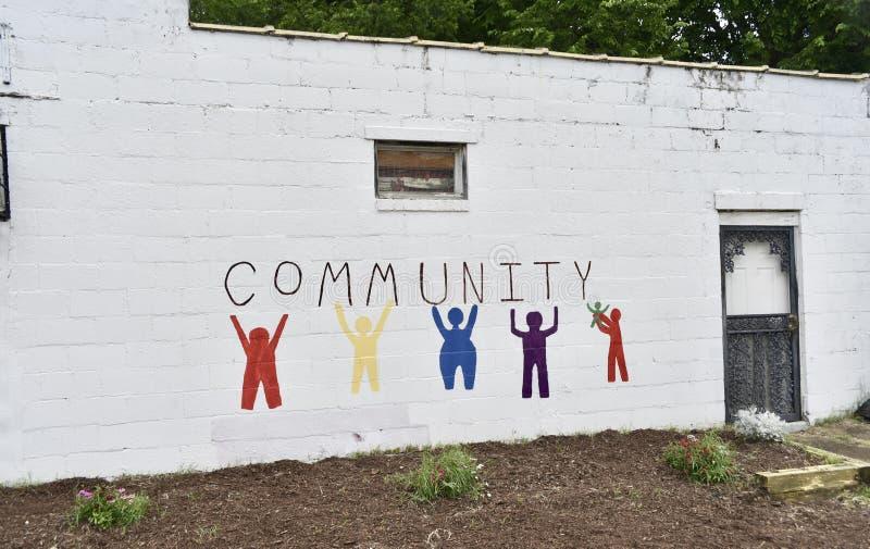 Unidad de la comunidad y de la vecindad imagen de archivo libre de regalías
