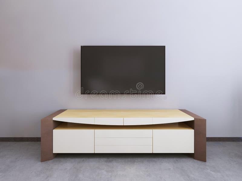 Unidad de la TV en una sala de estar contemporánea fotos de archivo