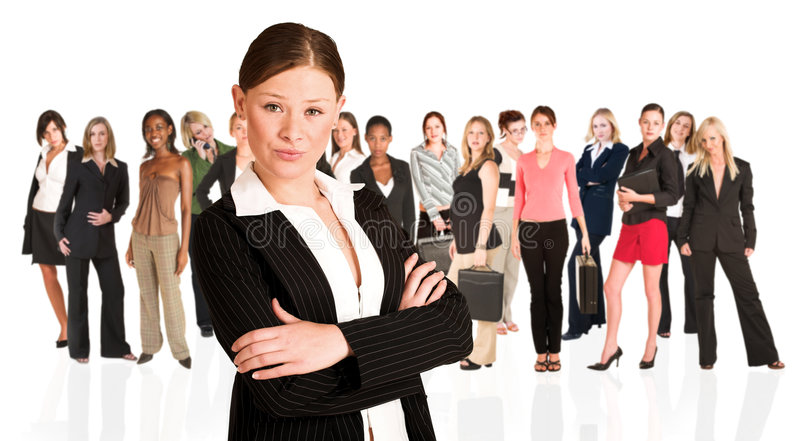 Unidad de negocio de mujer solamente fotos de archivo libres de regalías