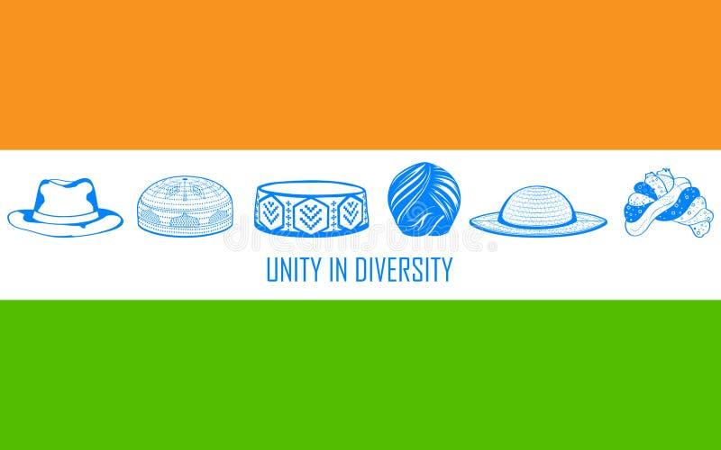 Unidad en la diversidad de la India libre illustration