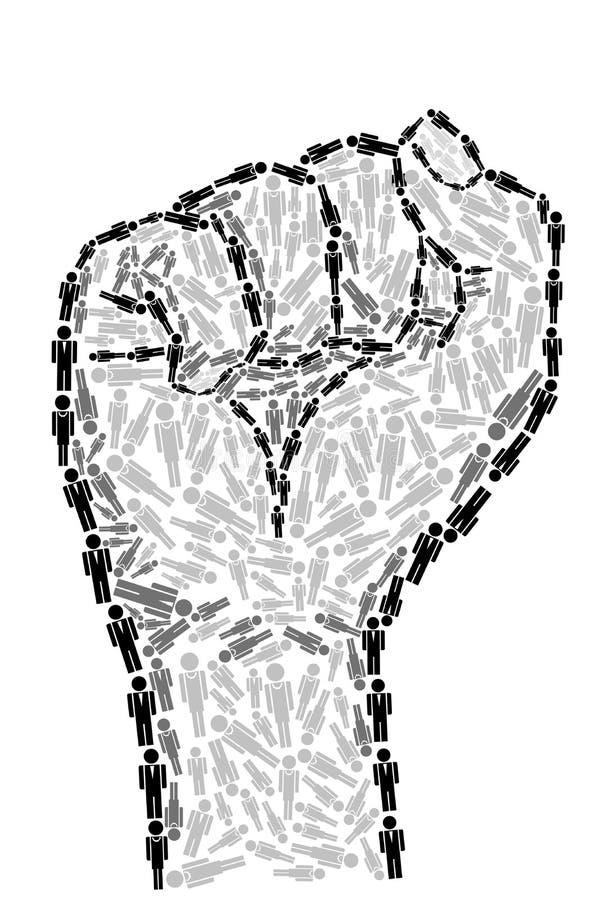 Unidad humana stock de ilustración