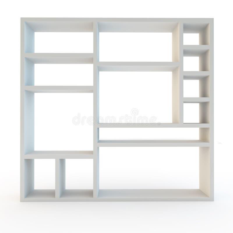 Unidad laminada blanco moderno de los muebles que deja de lado libre illustration