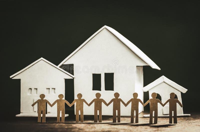 Unidad y amistad de vecinos imágenes de archivo libres de regalías