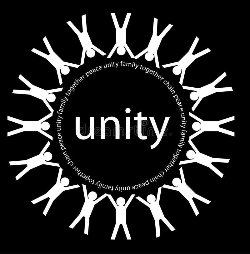 Unidad y paz ilustración del vector