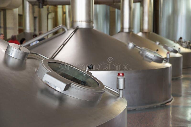 Unidade da fabricação de cerveja fotografia de stock royalty free
