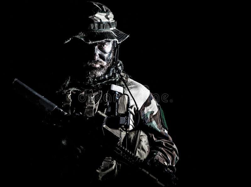 Unidade da guerra da selva imagens de stock