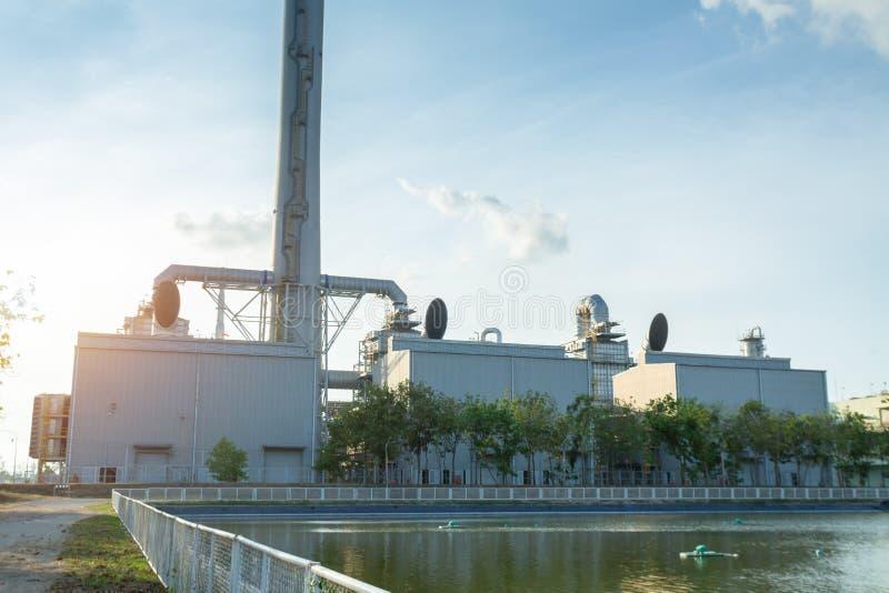 A unidade da recuperação de calor do desperdício de WHRU, WHRU desperdiça a unidade da recuperação de calor no central elé fotos de stock