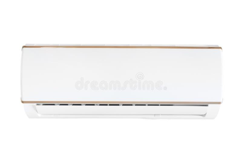 Unidade de condicionamento de ar rachada do sistema isolada com trajeto de grampeamento imagens de stock