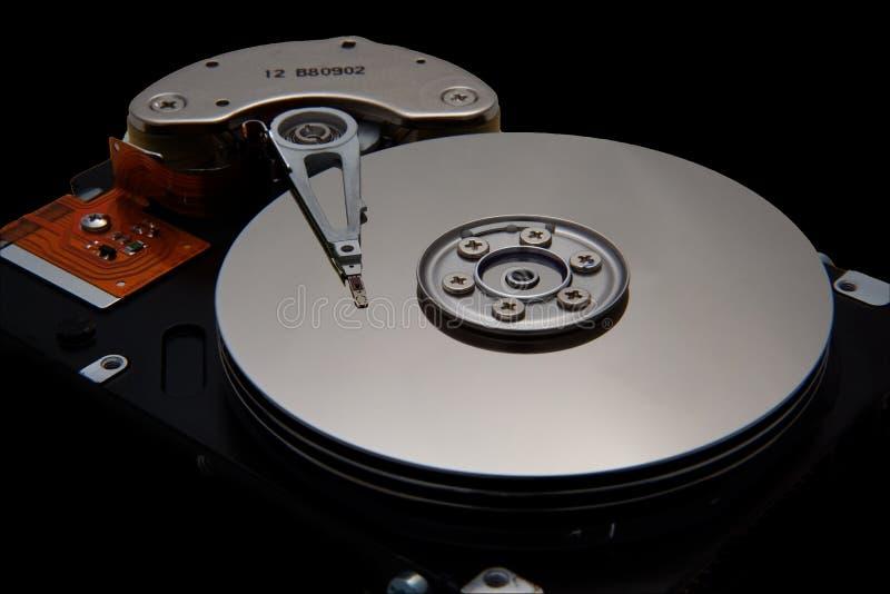 Unidade de disco no fundo preto fotografia de stock