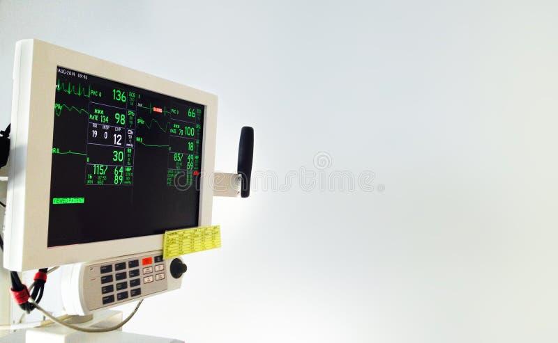 Unidade de monitoração paciente foto de stock