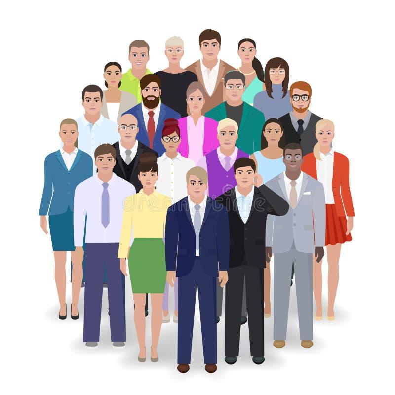 Unidade de negócio de povos no vetor dos ternos ilustração royalty free