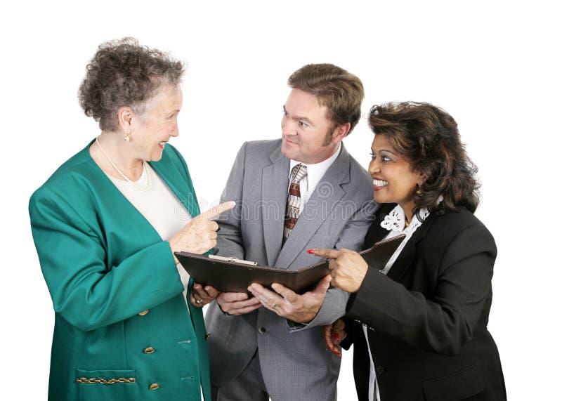 Unidade de negócio diversa - agradável fotos de stock royalty free