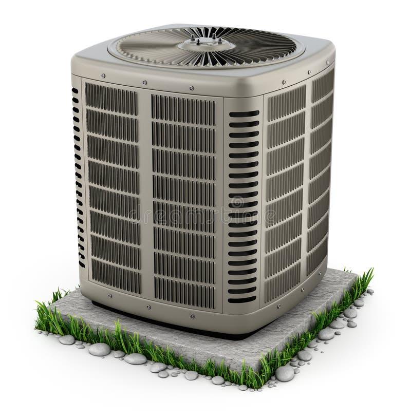 Unidade do aquecimento e do condicionador de ar ilustração stock