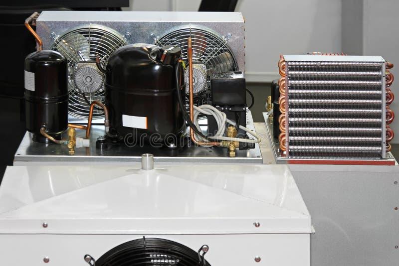 Unidade do compressor da refrigeração fotos de stock royalty free