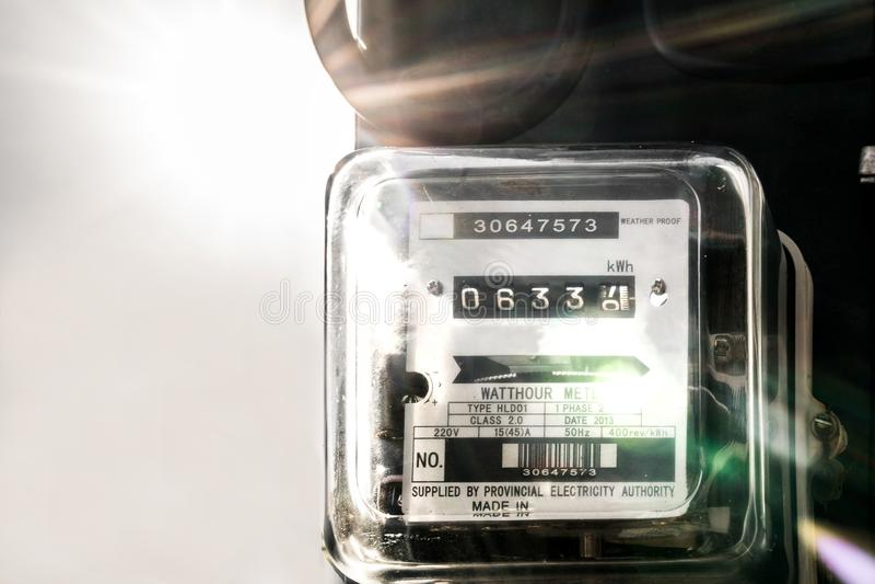 Unidade do medidor de eletricidade imagem de stock