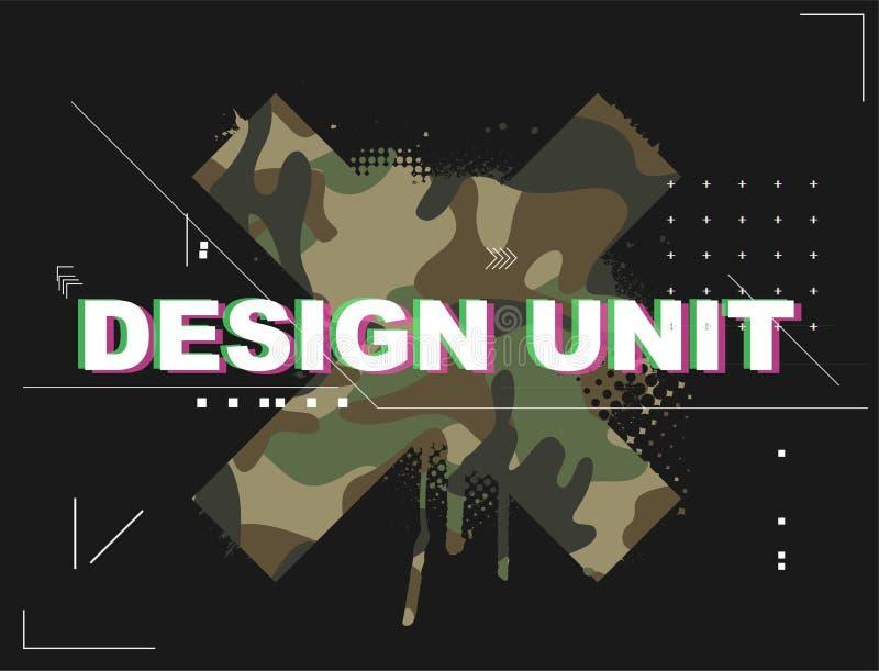 Unidade do projeto para o t-shirt ? moda ilustração do vetor