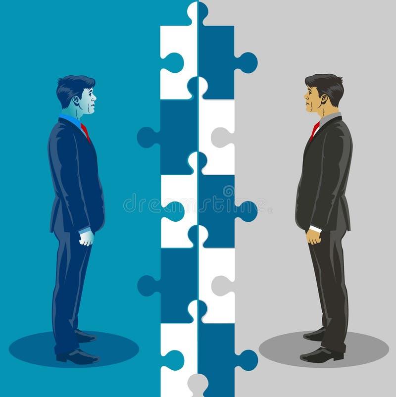 Unidade e cooperação do negócio Ilustração do vetor do conceito do negócio ilustração royalty free