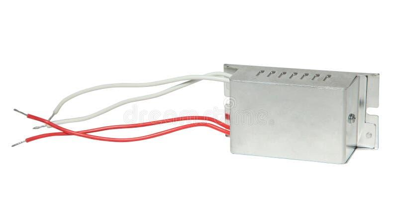 Unidade eletrônica da fonte de alimentação no fundo branco fotos de stock