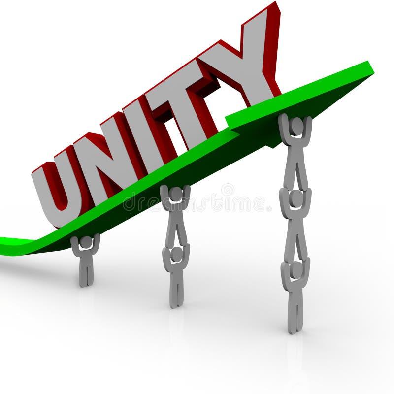 Unidade - A Equipe Trabalha Junto Fotografia de Stock Royalty Free