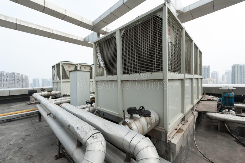 Unidade exterior do condicionamento de ar central fotos de stock