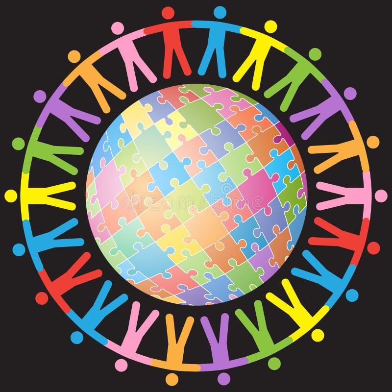 Unidade global ilustração do vetor