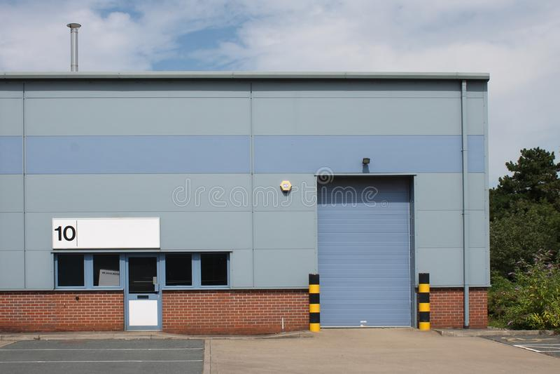 Unidade industrial vaga fotografia de stock