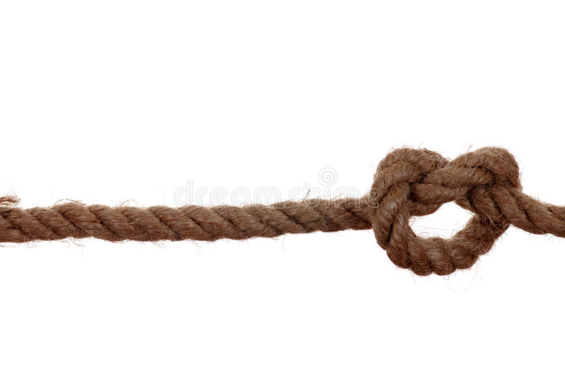 Unidade isolada de corda. imagens de stock royalty free