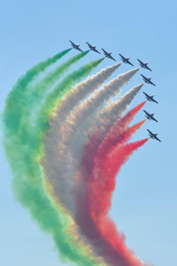 Unidade/italiano coloridos Freece Tricolori foto de stock royalty free