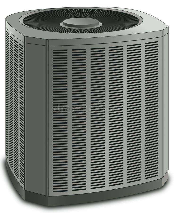 Unidade moderna do condensador do condicionador de ar ilustração do vetor