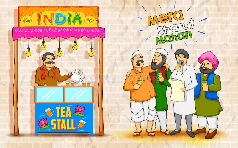 Unidade na diversidade da Índia ilustração stock