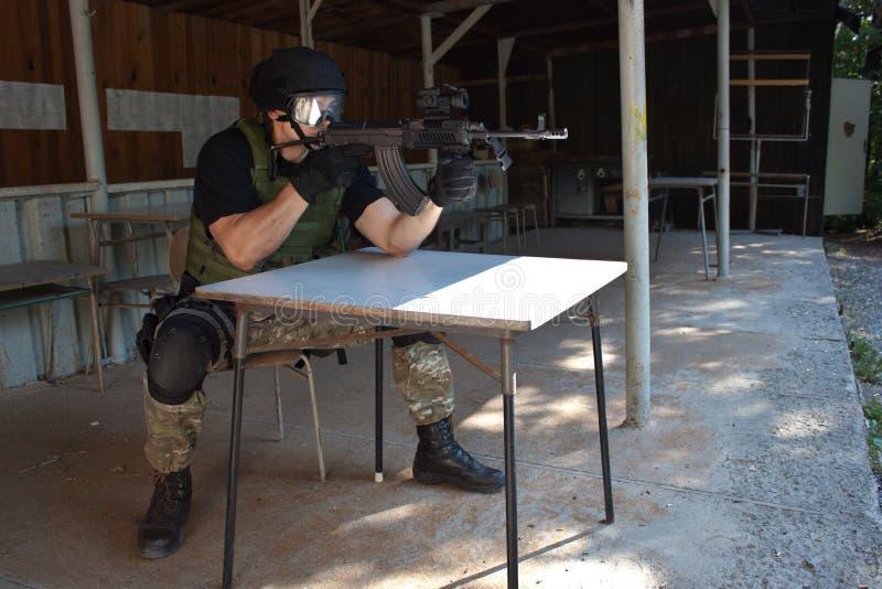Unidade policial especial no treinamento imagem de stock royalty free