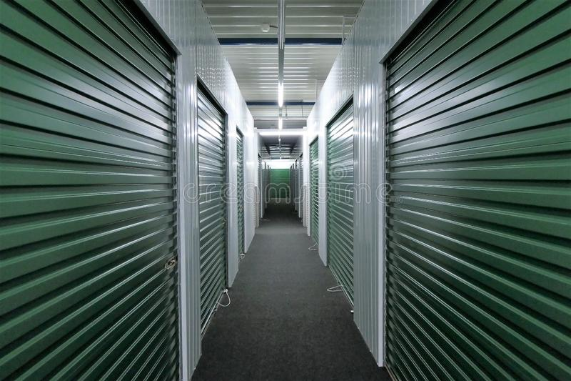 Unidades de almacenamiento del vestíbulo imágenes de archivo libres de regalías