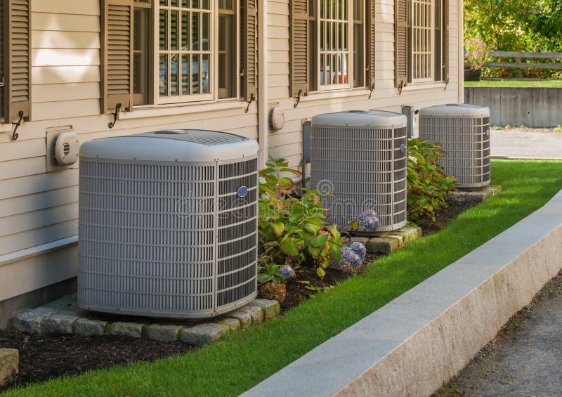 Unidades de la calefacción y de aire acondicionado imagen de archivo