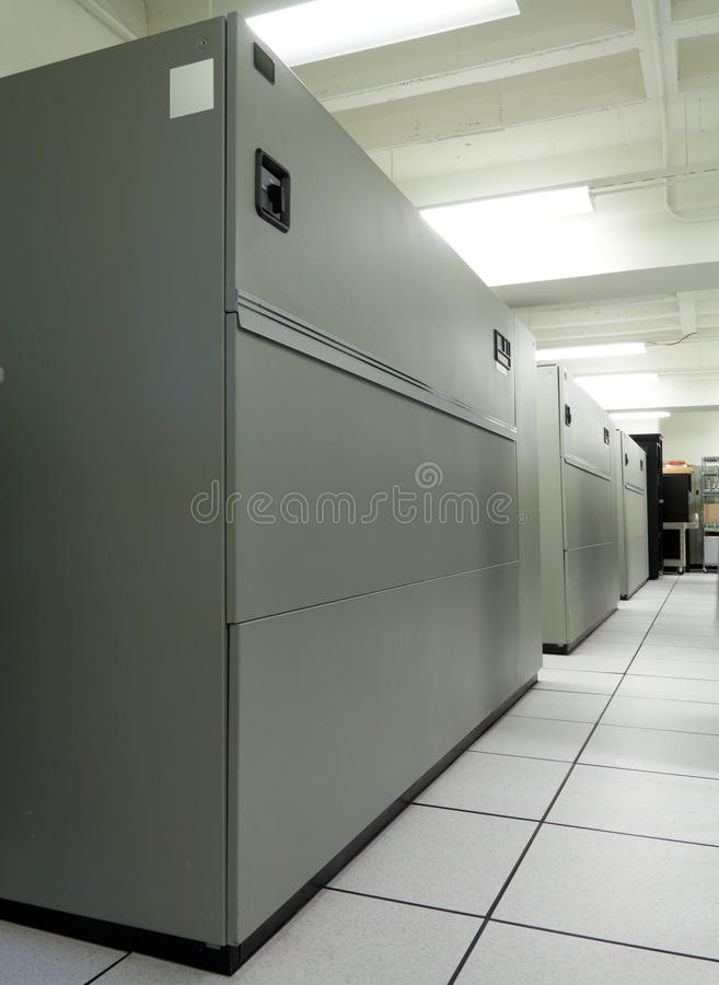 Unidades del aire acondicionado de la sala de ordenadores (CRAC) fotografía de archivo