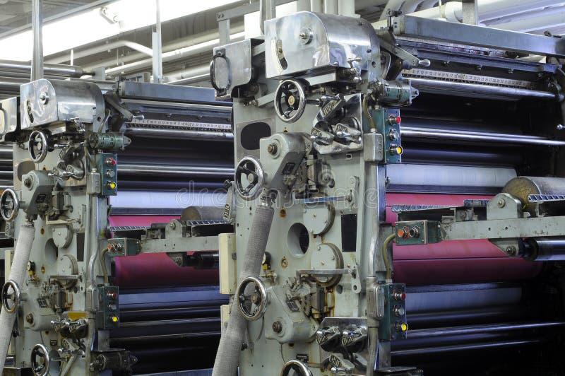 Unidades del rodillo de la tinta imagen de archivo