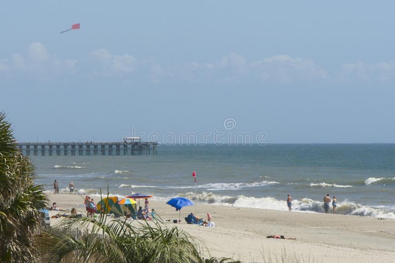 Unidentifiable people playing at Myrtle Beach South Carolina royalty free stock image
