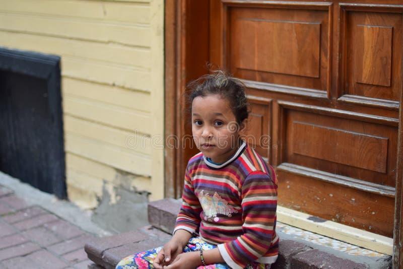 Refugee children in the Turkey stock photo