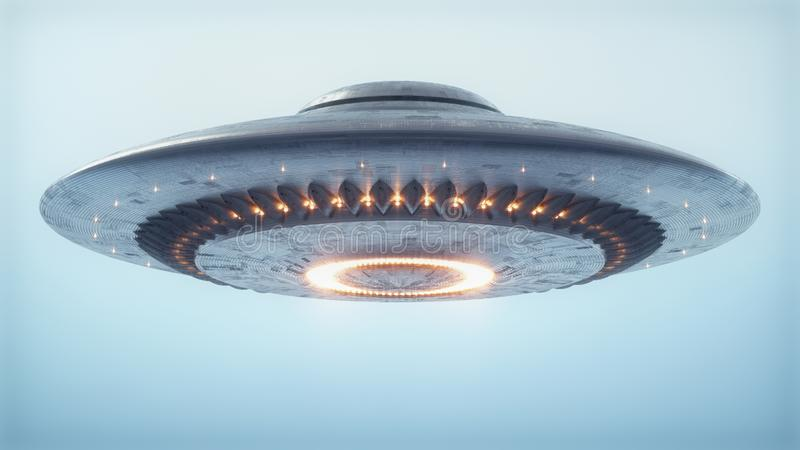Unidentified Flying Object Clipping Path royalty free stock photo
