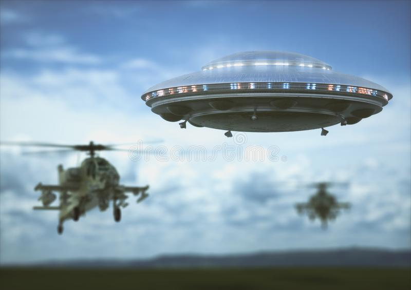Unidentified Flying Object stock image