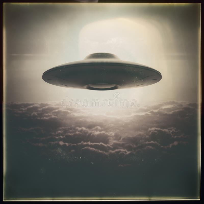 Unidentified Flying Object UFO Retro royalty free stock photo