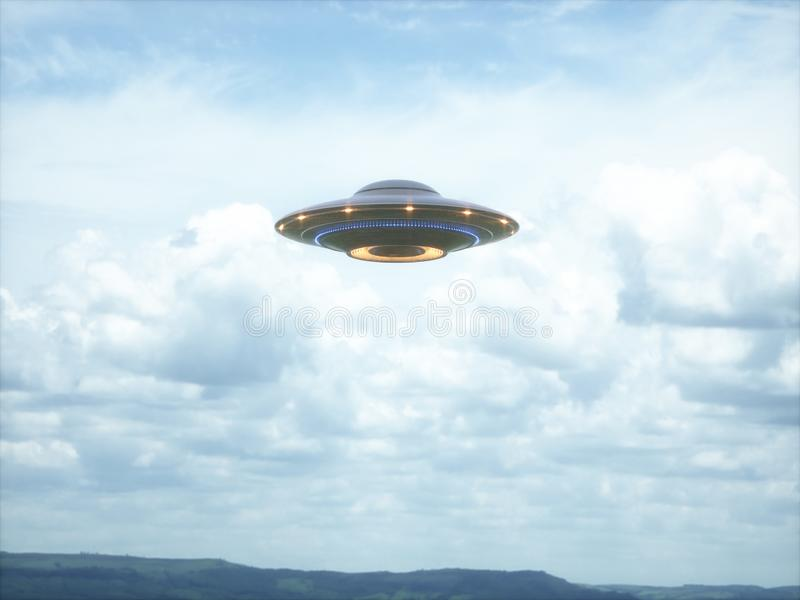 Unidentified Flying Object Clipping Path stock images