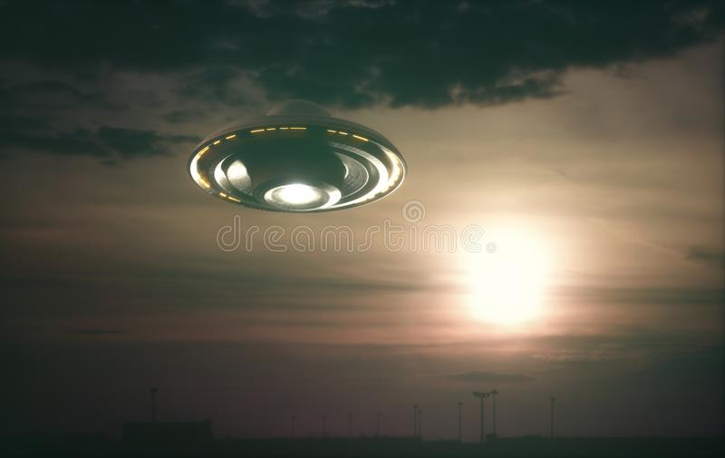 Unidentified Flying Object UFO stock photo