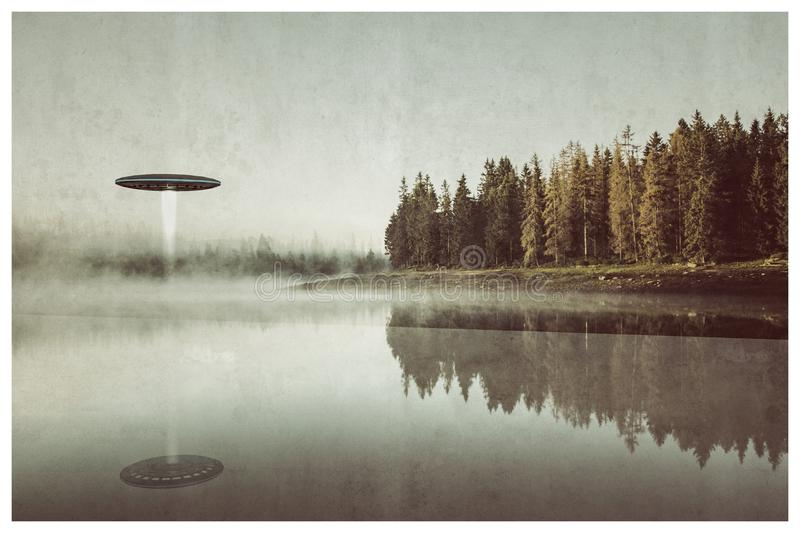 Unidentified flying object royalty free stock photography