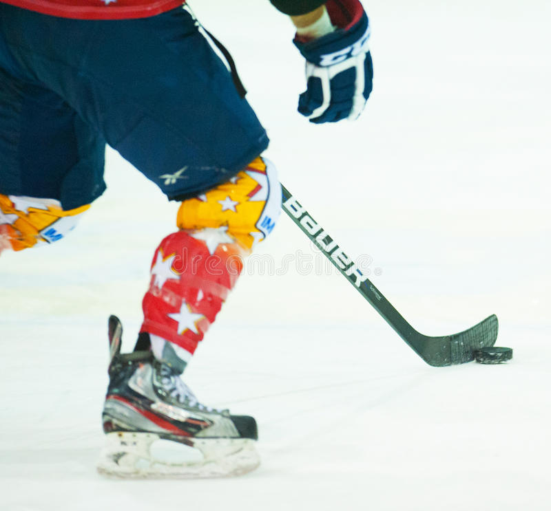 Download Unidentified hockey player editorial image. Image of action - 41448700